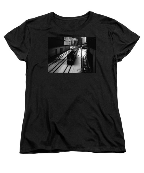 South Loop Railroad Women's T-Shirt (Standard Cut) by Kyle Hanson