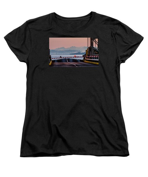 Southworth Ferry Terminal - End Of State Highway 160 Women's T-Shirt (Standard Cut) by E Faithe Lester