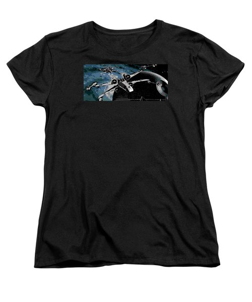 Space Women's T-Shirt (Standard Cut) by George Pedro