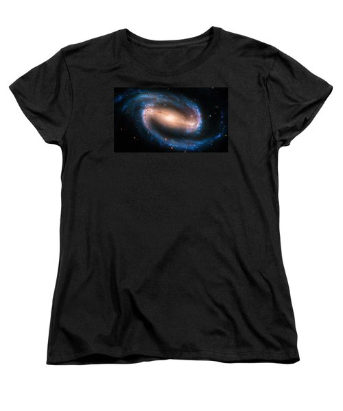 Space Image Barred Spiral Galaxy Ngc 1300 Women's T-Shirt (Standard Cut) by Matthias Hauser