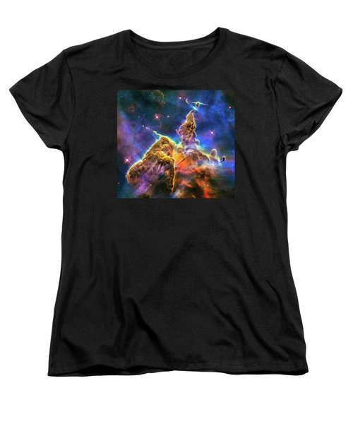 Space Image Mystic Mountain Carina Nebula Women's T-Shirt (Standard Cut) by Matthias Hauser