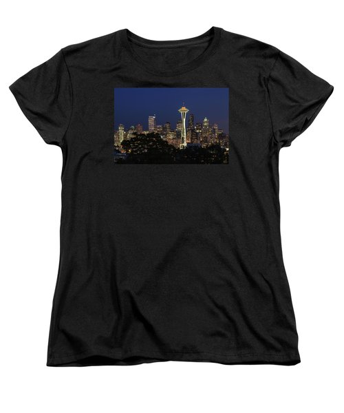 Women's T-Shirt (Standard Cut) featuring the photograph Space Needle by David Chandler