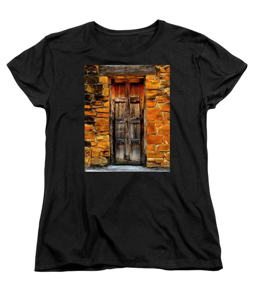 Spanish Mission Door Women's T-Shirt (Standard Cut) by Perry Webster