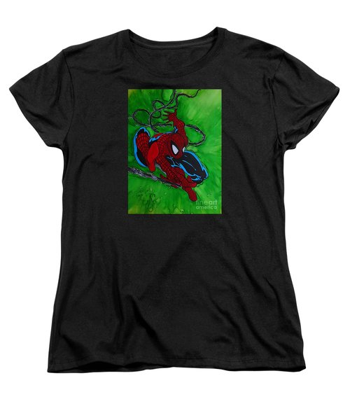 Spiderman 301 Illustration Edition Women's T-Shirt (Standard Cut) by Justin Moore