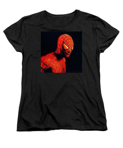 Spiderman Women's T-Shirt (Standard Cut) by Paul Meijering