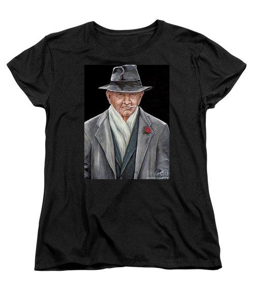 Spiffy Old Man Women's T-Shirt (Standard Cut) by Judy Kirouac
