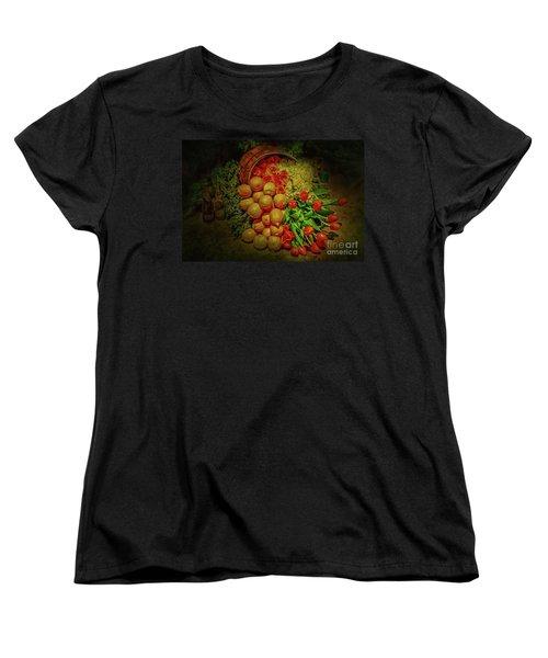 Spilled Barrel Bouquet Women's T-Shirt (Standard Cut) by Sandy Moulder