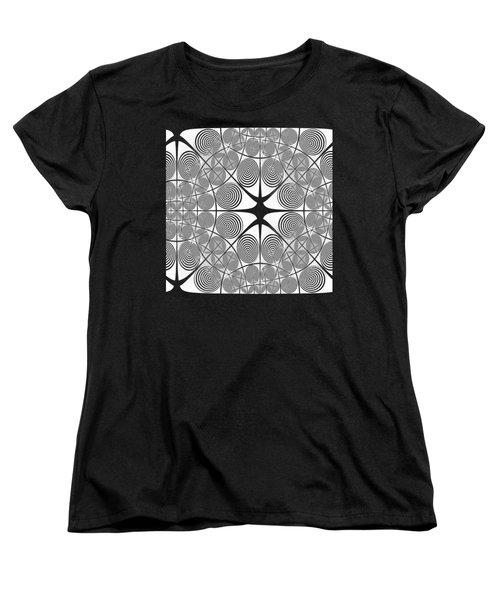 Spiral Abstract 7 Colour Choice Women's T-Shirt (Standard Cut) by Barbara Moignard
