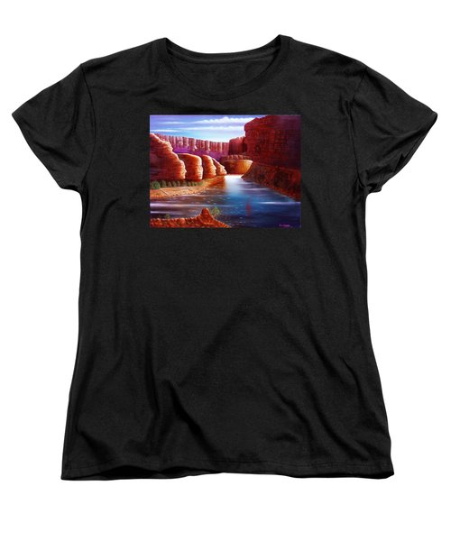 Spirits Of The River Women's T-Shirt (Standard Cut) by Gene Gregory