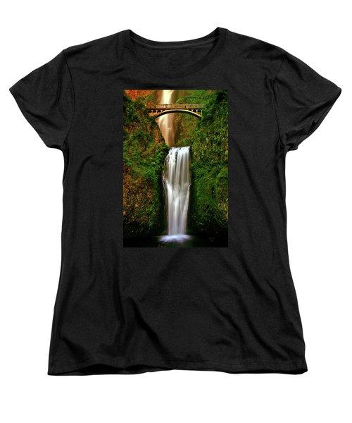 Spiritual Falls Women's T-Shirt (Standard Cut) by Scott Mahon