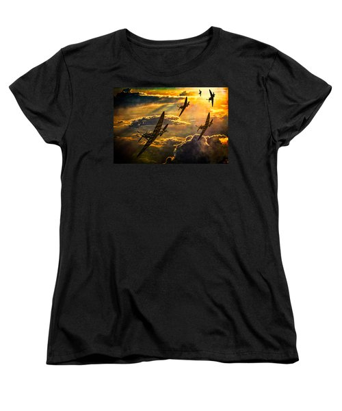 Women's T-Shirt (Standard Cut) featuring the photograph Spitfire Attack by Chris Lord