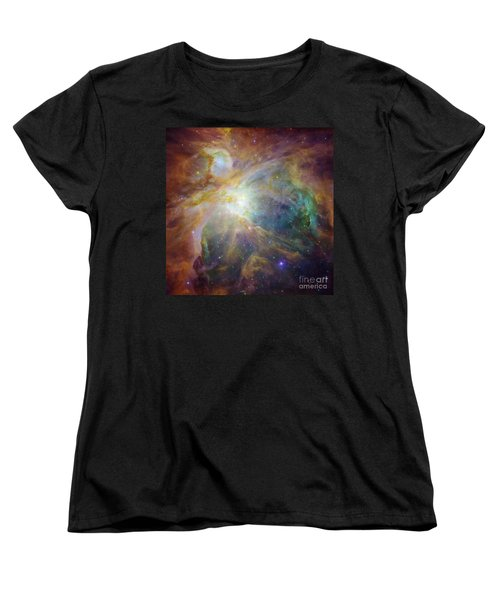 Spitzer And Hubble Create Colorful Masterpiece Women's T-Shirt (Standard Cut) by R Muirhead Art