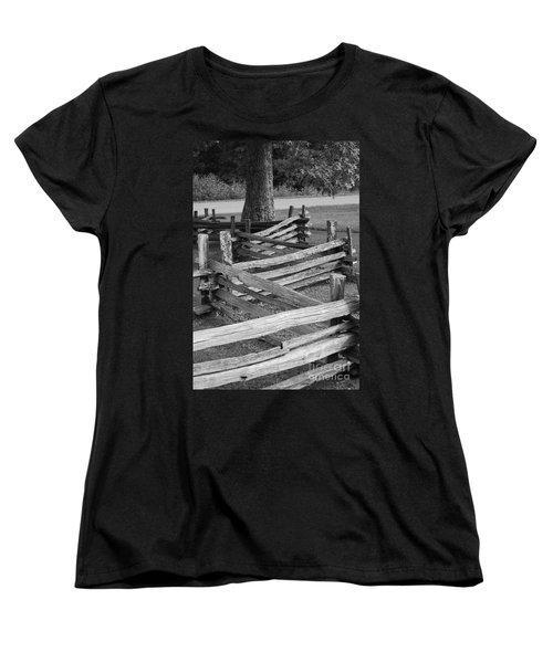 Split Rail Fence Women's T-Shirt (Standard Cut) by Eric Liller