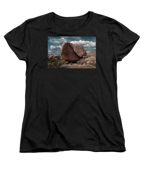 Women's T-Shirt (Standard Cut) featuring the photograph Split Rock In Joshua Tree National Park by Randall Nyhof