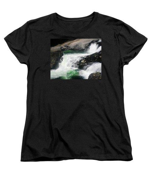 Spokane Water Fall Women's T-Shirt (Standard Cut) by Anthony Jones