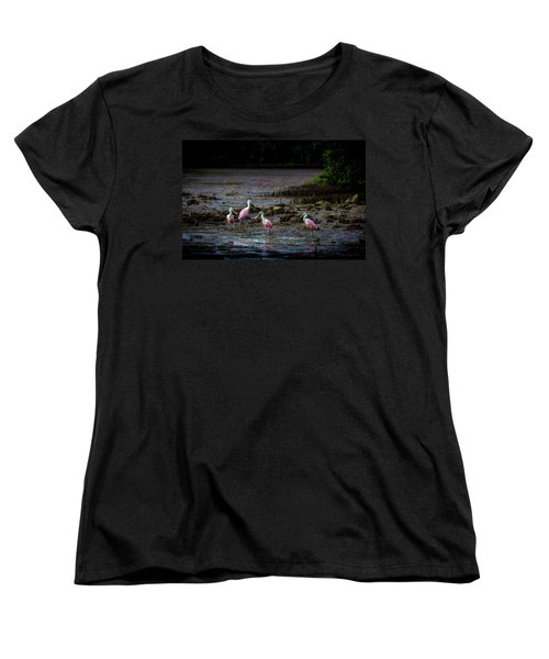 Spooning Party Women's T-Shirt (Standard Cut) by Marvin Spates