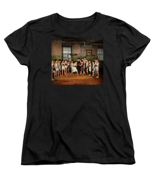Women's T-Shirt (Standard Cut) featuring the photograph Sport - Boxing - Fists Of Fury 1924 by Mike Savad