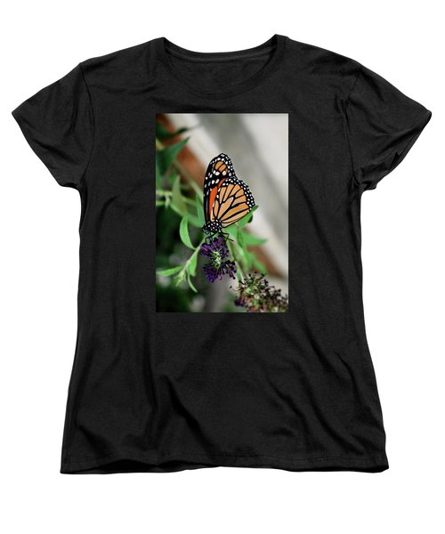 Women's T-Shirt (Standard Cut) featuring the photograph Spotted Butterfly by Cathy Harper