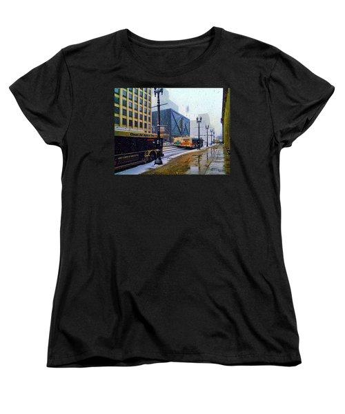 Spring Day In Chicago Women's T-Shirt (Standard Cut) by Dave Luebbert