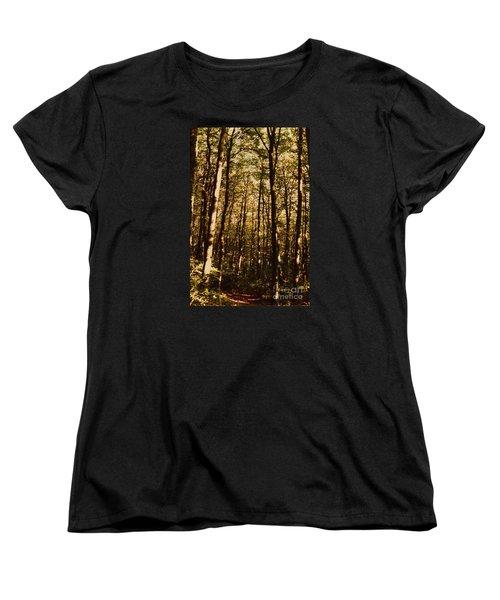 Women's T-Shirt (Standard Cut) featuring the photograph Spring Forest by Jean Bernard Roussilhe