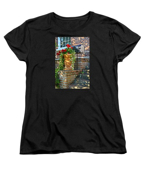 Women's T-Shirt (Standard Cut) featuring the photograph Spring Geraniums by Linda Brown