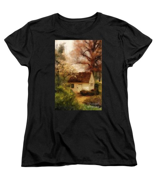 Women's T-Shirt (Standard Cut) featuring the digital art Spring House In The Spring by Lois Bryan