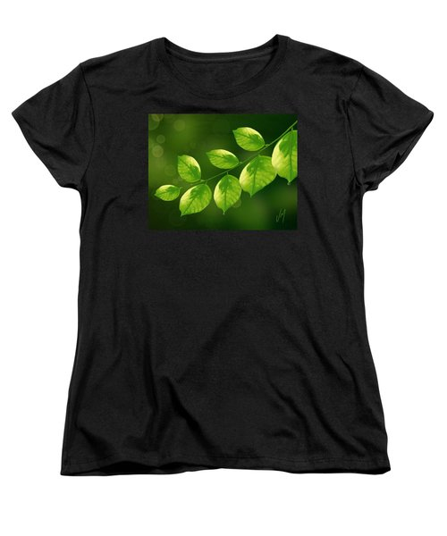 Women's T-Shirt (Standard Cut) featuring the painting Spring Life by Veronica Minozzi