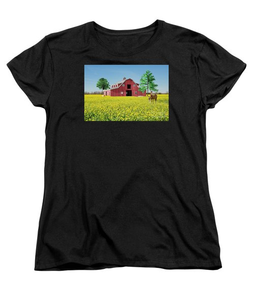 Spring On The Farm Women's T-Shirt (Standard Cut) by Bonnie Barry
