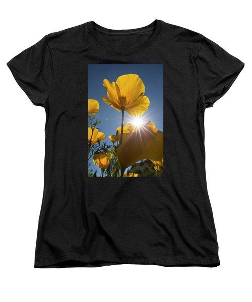 Spring Starburst Women's T-Shirt (Standard Cut) by Sue Cullumber