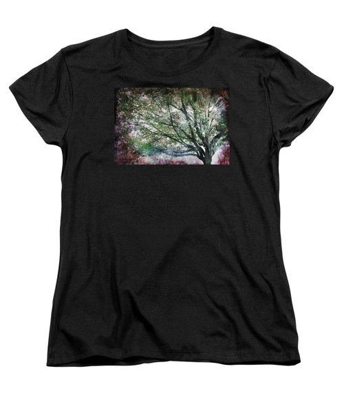 Women's T-Shirt (Standard Cut) featuring the painting Spring Tree by Gray  Artus