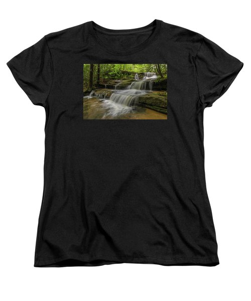 Spring Waterfall. Women's T-Shirt (Standard Cut) by Ulrich Burkhalter