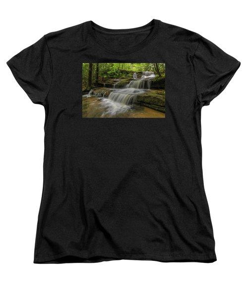 Spring Waterfall. Women's T-Shirt (Standard Cut)