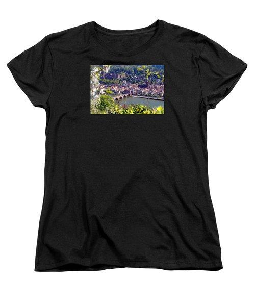 springtime in Heidelberg Women's T-Shirt (Standard Cut) by Rudi Prott
