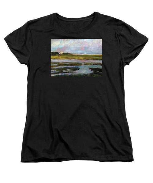 Women's T-Shirt (Standard Cut) featuring the painting Springtime In The Marsh by Michael Helfen