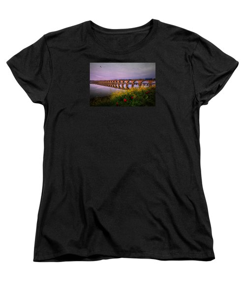 Women's T-Shirt (Standard Cut) featuring the photograph Springtime Reflections From Shipoke by Shelley Neff