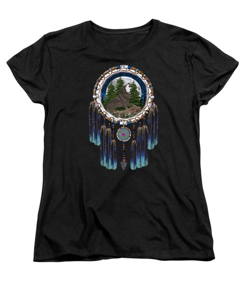 Sprit Of The Wolf Women's T-Shirt (Standard Cut) by Walter Colvin