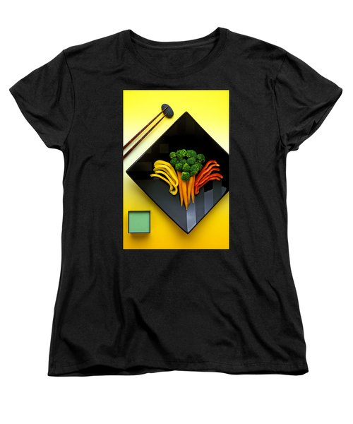 Square Plate Women's T-Shirt (Standard Cut) by Garry Gay