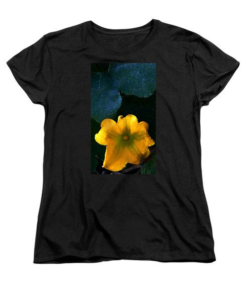 Women's T-Shirt (Standard Cut) featuring the photograph Squash Blossom by Lenore Senior