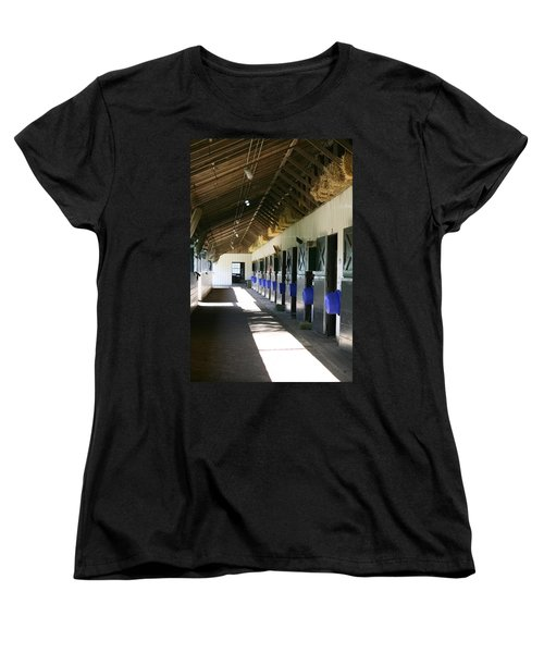 Women's T-Shirt (Standard Cut) featuring the photograph Stable Ready by Cathy Harper