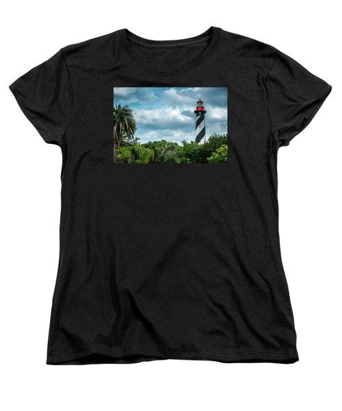 Women's T-Shirt (Standard Cut) featuring the photograph St. Augustine Lighthouse by Louis Ferreira