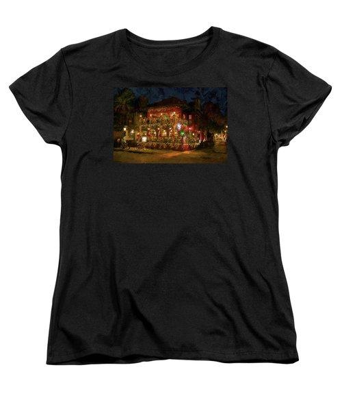 Women's T-Shirt (Standard Cut) featuring the photograph  St. Augustine Meehan's Pub by Louis Ferreira