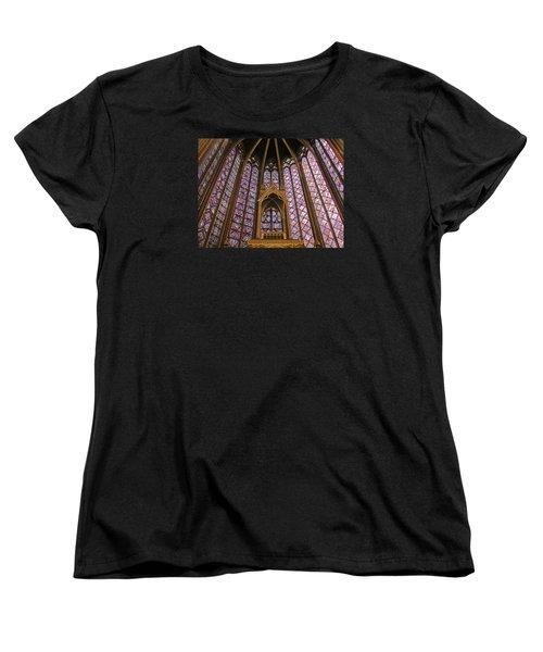 St Chapelle Paris Women's T-Shirt (Standard Cut) by Alan Toepfer