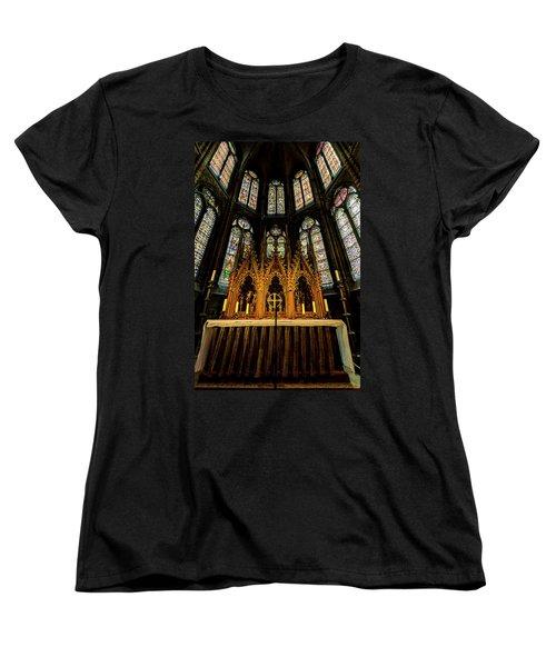 Women's T-Shirt (Standard Cut) featuring the photograph St. Elizabeth Church by David Morefield