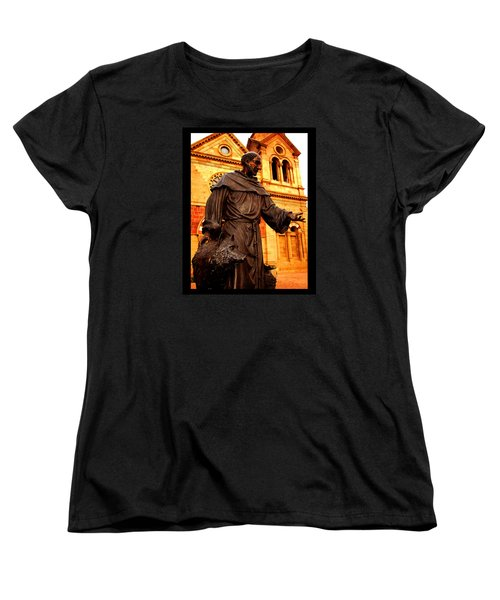 Cathedral Basilica Of St. Francis Of Assisi Women's T-Shirt (Standard Cut) by Susanne Still