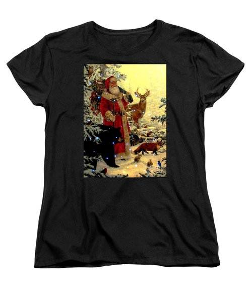 St Nick  And Friends Women's T-Shirt (Standard Cut) by Judyann Matthews