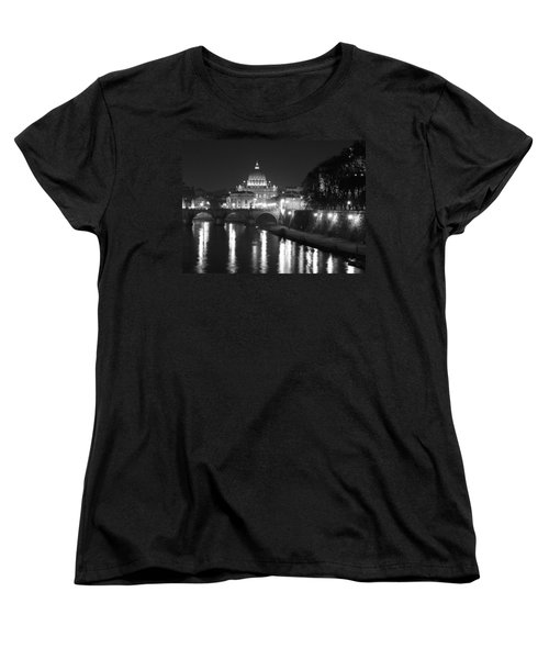 St. Peters At Night Women's T-Shirt (Standard Cut) by Donna Corless
