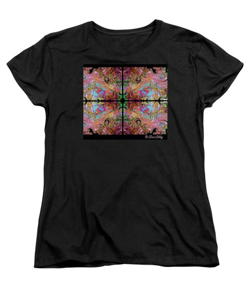 Stained Glass Window Women's T-Shirt (Standard Cut) by Loxi Sibley