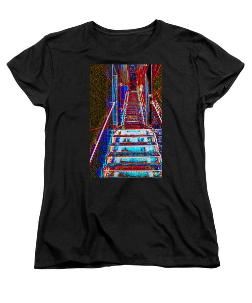 Stairway To Bliss Women's T-Shirt (Standard Cut) by Phil Cardamone