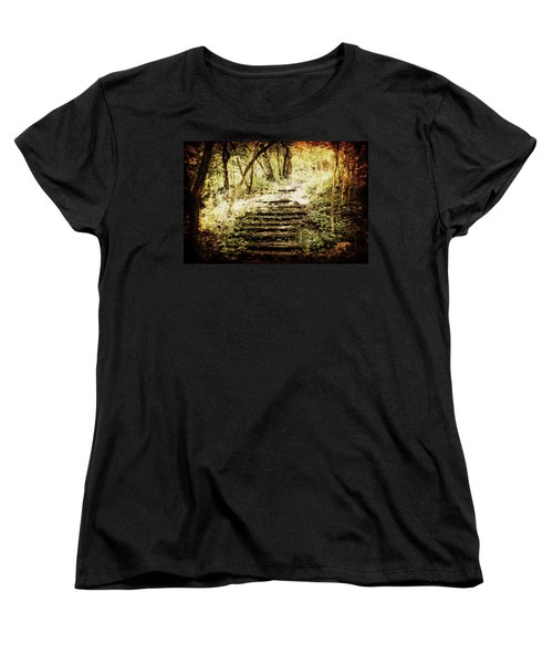 Stairway To Heaven Women's T-Shirt (Standard Cut) by Julie Hamilton