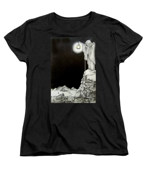 Women's T-Shirt (Standard Cut) featuring the drawing Stairway To Heaven by Patrice Torrillo
